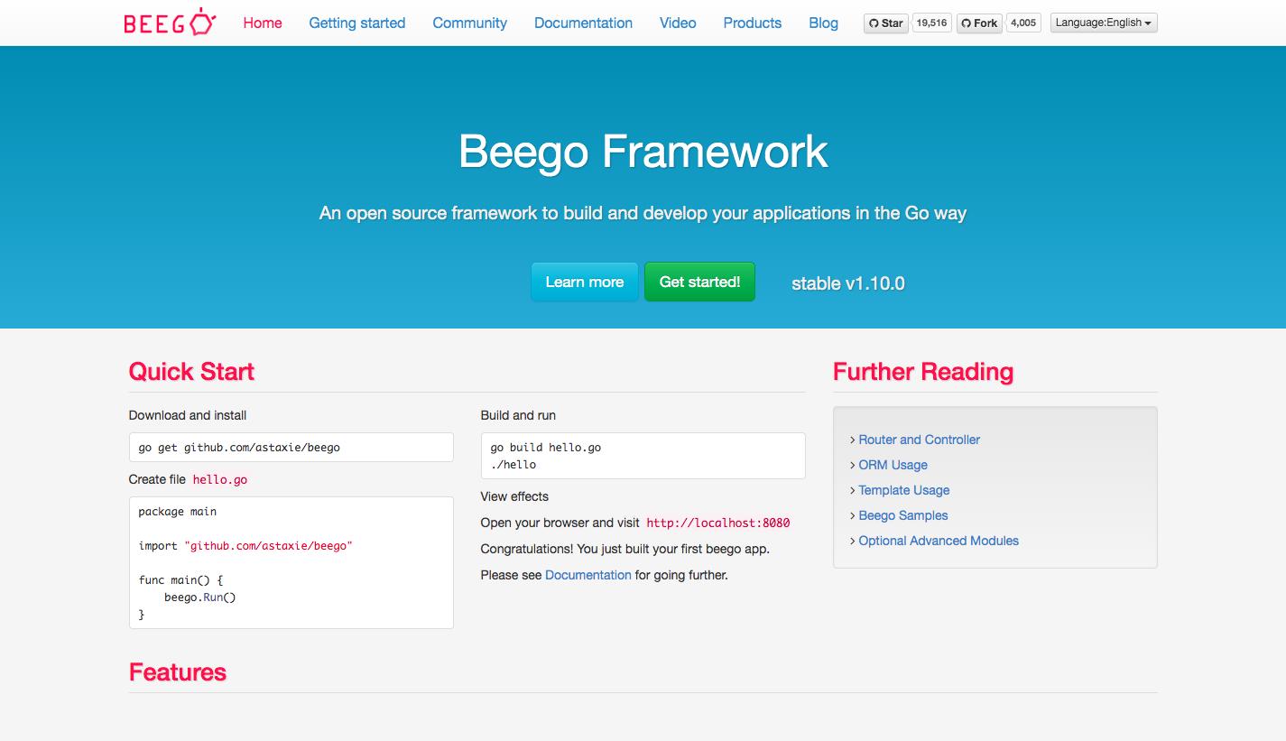 Beego Web Framework