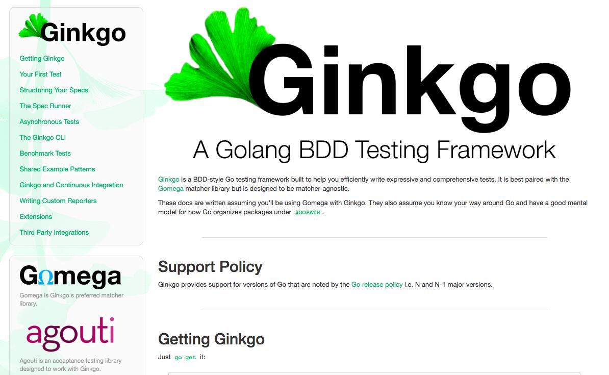 Go Ginkgo