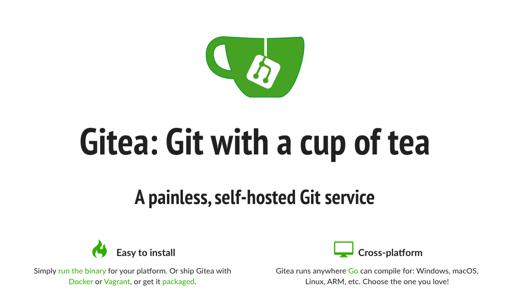 Gitea: A painless self-hosted Git service