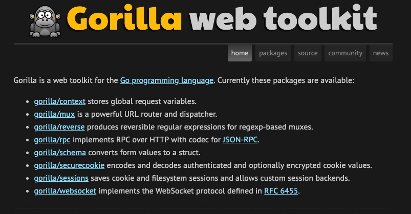 Gorilla WebSocket